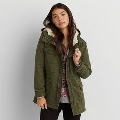 AE Classic Puff Parka ($65) ❤ liked on Polyvore featuring ...