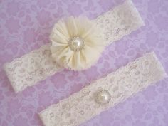 Ivory Wedding Garter, Bridal Garter, Wedding Garter Set with Toss Garter Chiffon Ballerina flowers on Etsy, $16.95