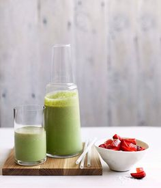 Australian Gourmet Traveller recipe for Basil smoothie with strawberries and Turkish delight
