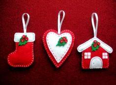 Делаем украшения и игрушки из фетра к Новому году своими руками