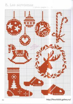 Christmas red cross stitch