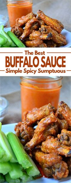 Simple Buffalo Sauce - A simple sauce that is slightly spicy, with a little heat and a nice buttery texture. This buffalo sauce is a milder and more sumptuous form of hot sauce and tastes amazing smot Buffalo Wild Wings Sauces, Buffalo Chicken Sauce, Homemade Buffalo Sauce, Hot Buffalo Wings, Spicy Buffalo Sauce Recipe, Buffalo Wings Recipe Grilled, Buffalo Hot Wings Recipe, Homemade Sauce, Hot Wing Sauces