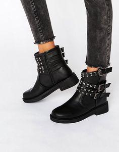ASOS | Байкерские ботинки с заклепками ASOS AEREO