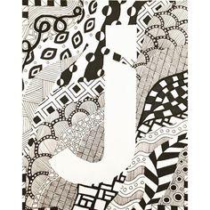 #art #zentangles #j #design #patterns #drawing #sketch_daily #tangle #doodle #artist #sketch #zentangle #J #illustration #draw #pattern #blackandwhite #sharpie #sketchbook #artwork #shapes #outline #letter #ink Coloring Letters, Zentangles, Photo And Video, Drawing, Illustration, Instagram, Zentangle, Sketches, Illustrations