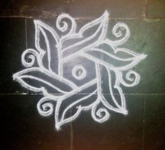 SIMPLE DOTTED KOLAM WITH 5-3 DOTS