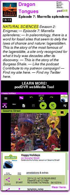 #NATURAL #PODCAST  Dragon Tongues    Episode 7: Marrella splendens    LISTEN...  http://podDVR.COM/?c=e3e80518-9af6-787f-924a-b3edcd129485