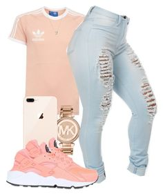 """""""Untitled #584"""" by tayloryvonne1 on Polyvore featuring adidas, Michael Kors, NIKE and Links of London"""