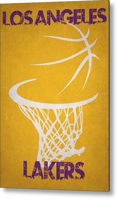 Lakers Metal Print featuring the photograph Los Angeles Lakers Hoop by Joe Hamilton