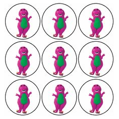Free Printables Barney Birthday Signs Labels Barney Ideas
