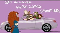 Legolas, Link, Hawkeye, Katniss, and Merida.