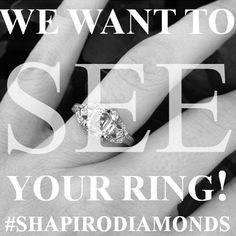 Are you a Shapiro Diamonds bride? Share your photo using our hashtag #shapirodiamonds for a chance to be featured in our Shapiro Brides album!