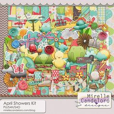 April Showers Kit::26/04: New Products::{scrapflower} - where memories bloom