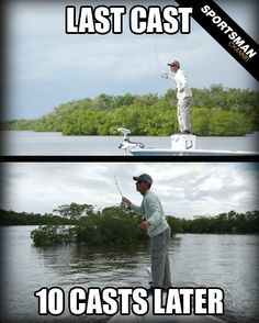We know every fisherman has said this before! #Fishing #CastAway #LastCast