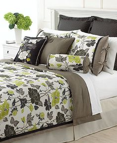 Martha Stewart Collection Bedding, Layered Flowers 6 Piece Comforter Sets - Bed in a Bag - Bed & Bath - Macy's - Master Bedroom?