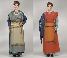 Eura costume reconstruction Medieval Costume, Medieval Dress, Folk Costume, Viking Garb, Viking Dress, Viking Clothing, Fantasy Costumes, Iron Age, Apron Dress