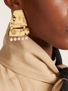 Faux-pearl embellished earrings | Loewe - AVAILABLE HERE: http://rstyle.me/n/cqvgyibcukx