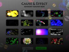Cause and effect sensory sound box.