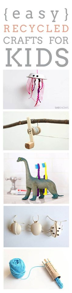 DIY recycled kids crafts roundup