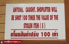 poorly translated signs pictures - Bing Images
