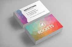 Polygon Business Card Template by @Graphicsauthor