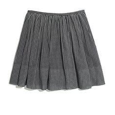 Gingham Shirred Skirt