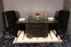 Stone Table Base.  Village Craft Iron & Stone, Inc.