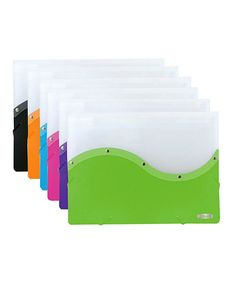 Look at this #zulilyfind! Two-Tone Document Holder - Set of Six by Bazic Products #zulilyfinds