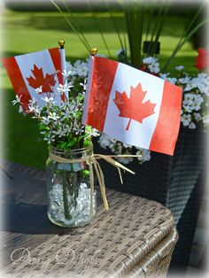 Dining Delight: Celebrating Canada Day 150 in Style Canada Day Images, Canada Day 150, Canada For Kids, Happy Canada Day, O Canada, Summer Centerpieces, Centerpiece Decorations, Canada Day Centrepiece, Remembrance Day Pictures