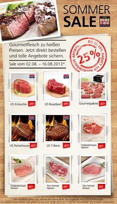 Sommer Sale bei Gourmetfleisch.de mit bis zu 25% auf leckere Steaks.  Nicht zögern, sondern losgrillen!