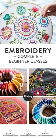 Learn how to embroider with ou |