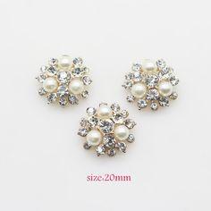 10PCS Vintage Handmade Flower Rhinestone Buttons 4ad0084aa5f1