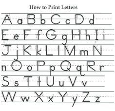 how to write the letters with sayings and things that children will remember