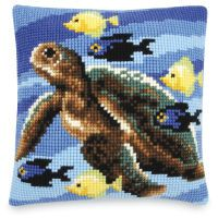 Sea Turtle Quickpoint Pillow Top