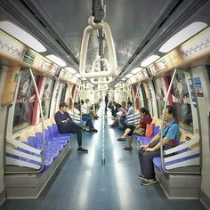 Day 2 of #AnotherTraveler365Project. Commuting late night on the #Singapore #MRT.
