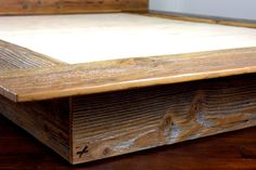 Reclaimed Wood Platform Bed // Salvaged Wood by weareMFEO on Etsy