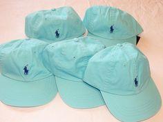 6501048 Mens Polo Ralph Lauren hat cap golf aqua navy adjustable Lot of 5 damagd #PoloRalphLauren #cap