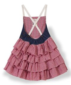 La faute à Voltaire Red Gingham Ruffle Gigi Dress - Toddler & Girls | zulily