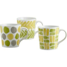 Pattered Mugs in Coffee Mugs, Teacups   Crate and Barrel