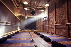 London's Most Beautiful Yoga Spaces #refinery29  http://www.refinery29.uk/yoga-class-london#slide-4  BLOKExposed brickwork, vaulted concrete ceilings and cast-iron pillars – this converted Victorian tram depot could be mistaken for a craft brewery. Situated in Clapton, head to BLOK for dynamic classes that are sure to stretch you out