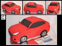 3D CAR CAKE - MAZDA - FONDANT SCULPTED CAKE