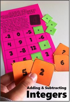 Practice with integer addition and subtraction - a fun & simple game with just a bit of strategy through critical thinking