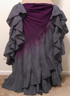 Plum & charcoal gray double dyed 25 yard skirt.