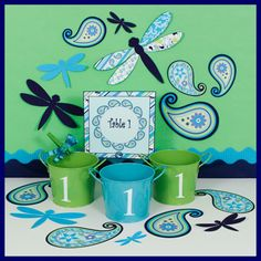 Pretty Paisley Classroom Theme blue and green