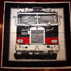 Frances Butler for Strömma Sweden Truck Large Wall Hanging Vintage 1970s Textile