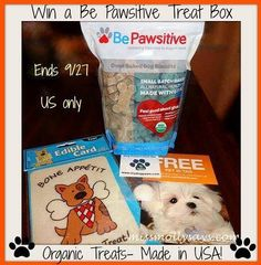 Be Pawsitive #Dog Treat Box #Giveaway (ends 9/27)