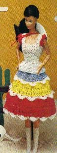 Barbie & Ken Cowboy & Cowgirl Outfits http://www.momsloveofcrochet.com/Barbie-CowboyandCowgirlOutfits.html