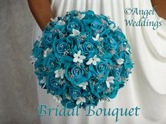 All Roses Bridal Bouquet  BEAUTIFUL ANGELINA by Angelweddings, $375.00