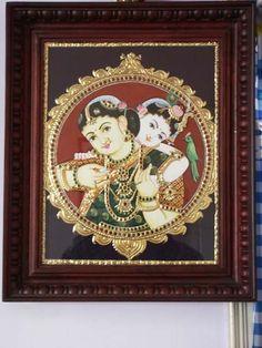 Krishna_Yashoda_On_Traditional_Tanjore_Painting.jpg (480×640)