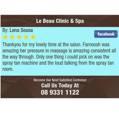 Thankyou for my lovely time at the salon. Farnoosh was amazing her pressure in massage is...