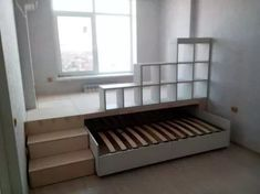 double pull-out bed podium in one .club - We choose interesting double pull-out bed podium in one … for you. Custom Made Furniture, Furniture Making, Diy Furniture, Kitchen Furniture, Office Furniture, Furniture Design, Girls Bedroom, Bedroom Decor, Bedroom Office